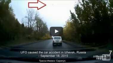 Penampakan UFO Picu Kecelakaan Mobil?