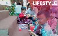 Serunya Anak-Anak Lomba Lukis Patung Batik