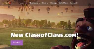 Website Clash of Clans Tampilkan Wajah Baru