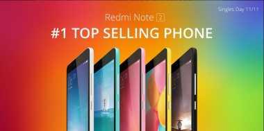 Xiaomi Sukses Jual 6 Juta Unit Redmi Note 2