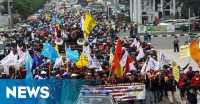 Ikut Buruh Mogok Kerja, Anggota Dewan Kabupaten Bekasi Diamankan