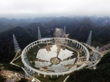 China Rampungkan Pembangunan Teleskop Seukuran 30 Lapangan Sepakbola