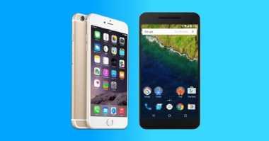 Adu Gahar Smartphone Garapan Apple dan Google