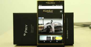 BlackBerry Priv 24 Karat Dibanderol Rp17,8 Juta