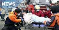 Bayi & Lansia Tewas, 318 Korban Luka Gempa Taiwan Dirumahsakitkan