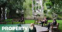Bekas Reruntuhan Gereja Disulap Jadi Taman di London