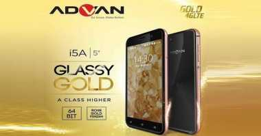 Advan i5A Glassy Gold, Ponsel Mewah Ramah Kantong