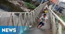 Dua Jembatan Putus, Akses Transportasi Warga Lebong Tersendat
