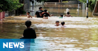 Banjir Landa Sejumlah Kecamatan di Bangka Barat