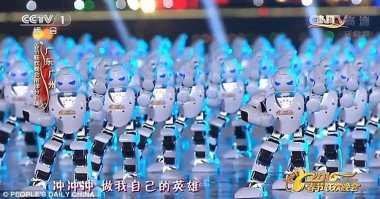 540 Robot Menari untuk Meriahkan Spring Festival
