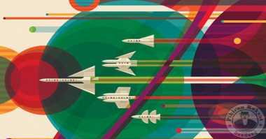 NASA Perkenalkan Poster Retro Wisata Antariksa