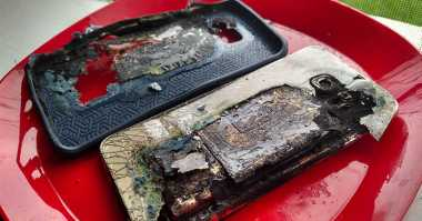Diisi Baterai, Samsung Galaxy S6 Edge+ Jadi Arang