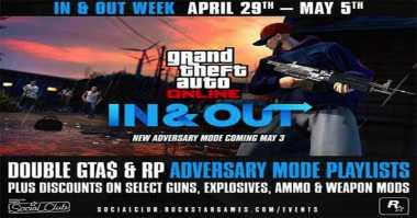GTA V Online Rilis Mode Berjuluk 'In and Out'
