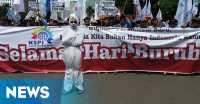 Hari Buruh, Kantor Jokowi Diteror