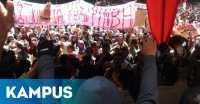 Peringati Hardiknas, Ribuan Mahasiswa UGM Demo Rektor
