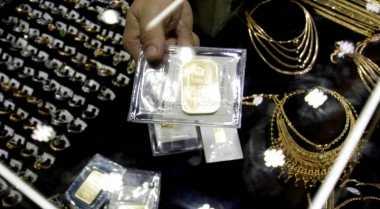 \Harga Emas Antam Turun Rp2.000 ke Rp595 Ribu\