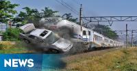 Hendak Liburan ke Binjai, Keluarga PNS Dihantam Kereta Api