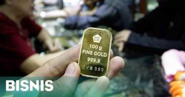 \Makin Meredup, Harga Emas Antam Turun Rp1.000\
