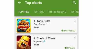 Game Tahu Bulat Depak Posisi Clash of Clans