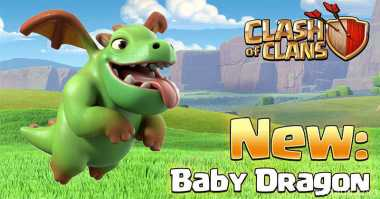 Tips Menyerang Baby Dragon Clash of Clans