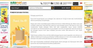 E-Commerce Lokal Sukamart.Com Tutup Lapak