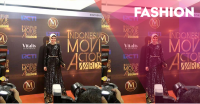 FOTO: Elegan Black Gold ala Zee Zee Shahab Red Carpet IMA 2016