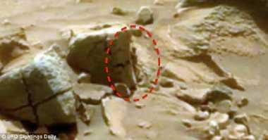 NASA Diduga Tangkap Gambar Alien Berukuran Mini di Mars