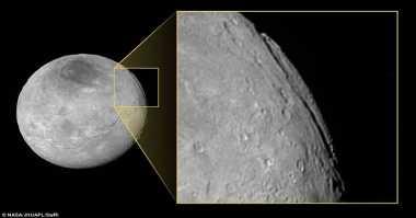 Ngarai di Bulan Pluto Kalahkan Panjang Grand Canyon