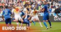 Gol! Italia Unggul 1-0 Atas Spanyol Berkat Sepakan Chiellini