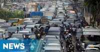 Awal Pekan, Lalu Lintas di Jakarta Padat