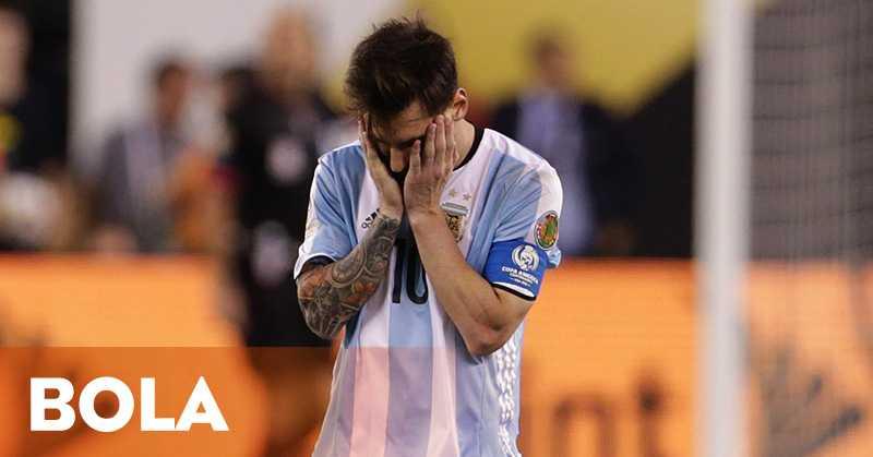 Messi Sangat Terpukul dengan Kekalahan Timnas Argentina di Final Copa America Centenario 2016