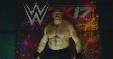 Brock Lesnar Resmi Jadi Bintang Sampul Game WWE 2K17