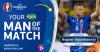 Ragnar Sigurdsson, Man of the Match Laga Inggris vs Islandia