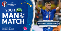 Ragnar Sigurdsson, Man of the Match Laga Inggris vs Islandia