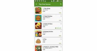 Clash of Clans Merosot ke Posisi Tiga di Google Play