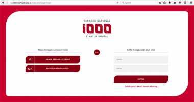 Gerakan 1.000 Startup Digital Resmi Dibuka