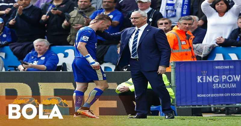 Ranieri Secara Tersirat Puji Keputusan Vardy Bertahan di Leicester City