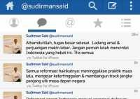 Pamit via Sosmed, Sudirman Said Jadi Trending Topic