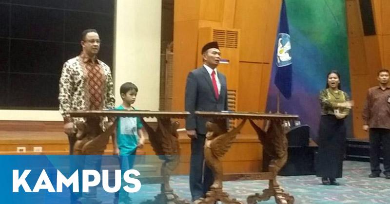 <i>Reshuffle</i> Kabinet: Anies Baswedan Sambut Mendikbud Baru