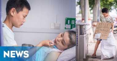 Anak Jadi Pemulung Demi Pengobatan Kanker Ibu Tirinya