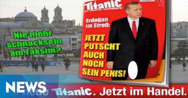 "Menghina, Majalah Jerman Pajang Erdogan Pamer ""Kemaluan"""