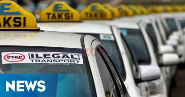 Belasan Taksi Online Diamankan Aparat Gabungan