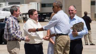 Telat Seminggu, Obama Akhirnya Kunjungi Korban Banjir Lousiana