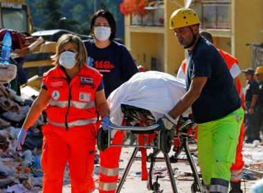 Korban Tewas Gempa Italia Bertambah Menjadi 120 Orang