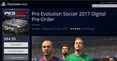 Demo PES 2017 Bisa Diunduh via PlayStation Store