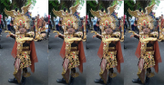 Model Jember Fashion Carnaval Berlatih <i>Make-Up</i> Karakter Selama 3 Bulan