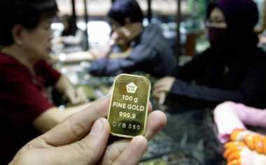 \Harga Emas Antam Stagnan di Awal Pekan\