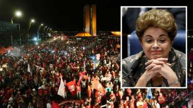 Tak Terima Dimakzulkan, Pendukung Presiden Perempuan Brasil Gelar Demo