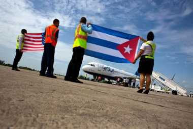 Setelah 50 Tahun Vakum, Pesawat AS Akhirnya Mendarat di Kuba