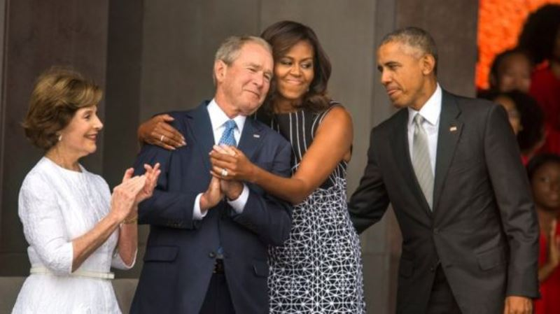 Obama Gandeng Bush Buka Museum Kulit Hitam AS Pertama